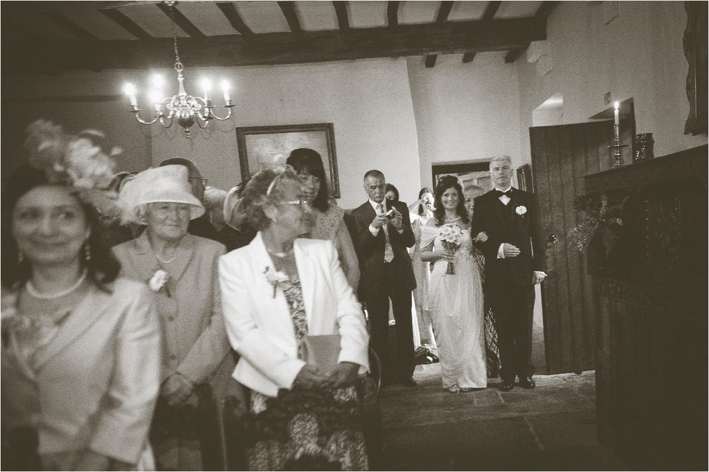 wedding processional inside washington old hall