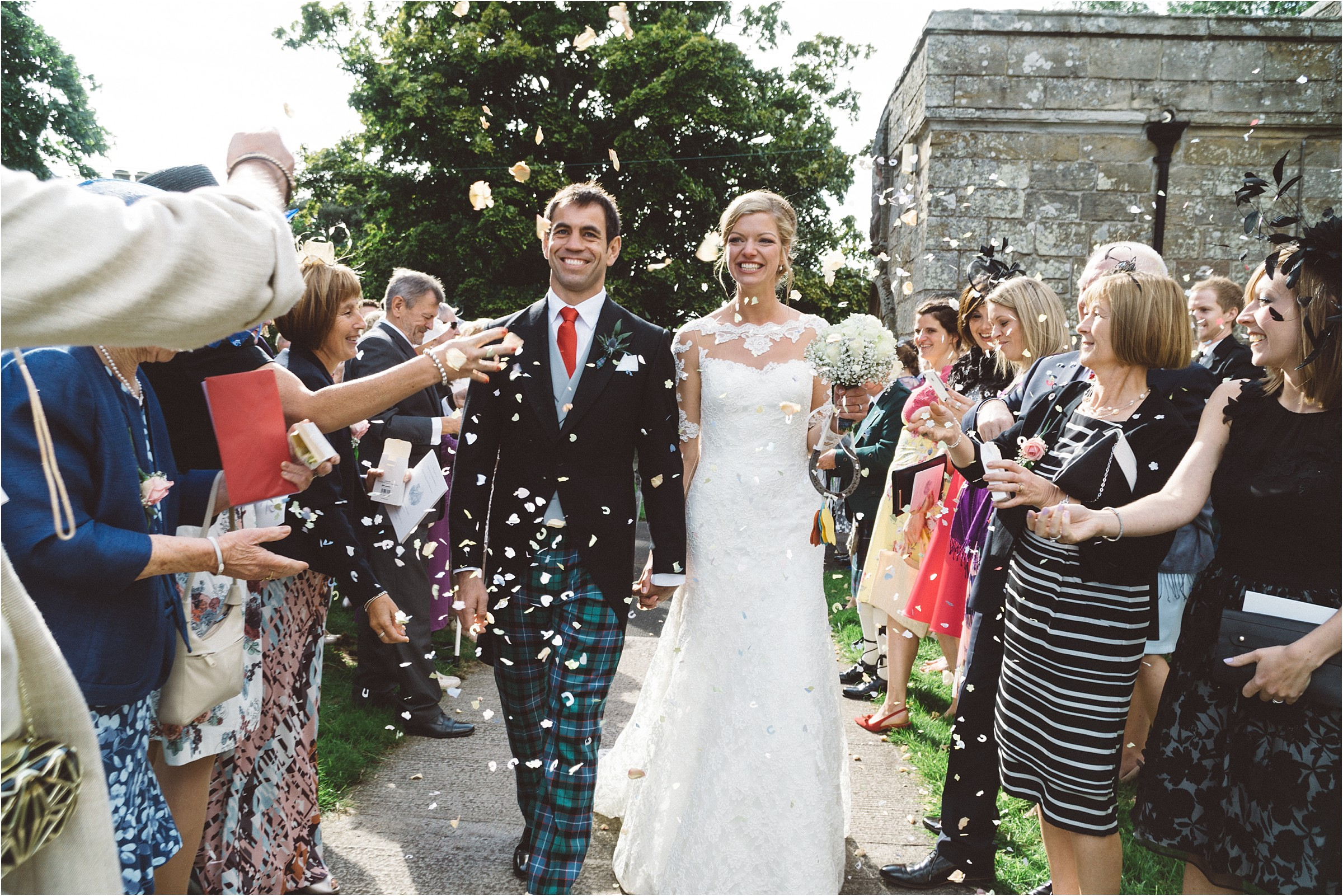 confetti embleton church wedding northumberland