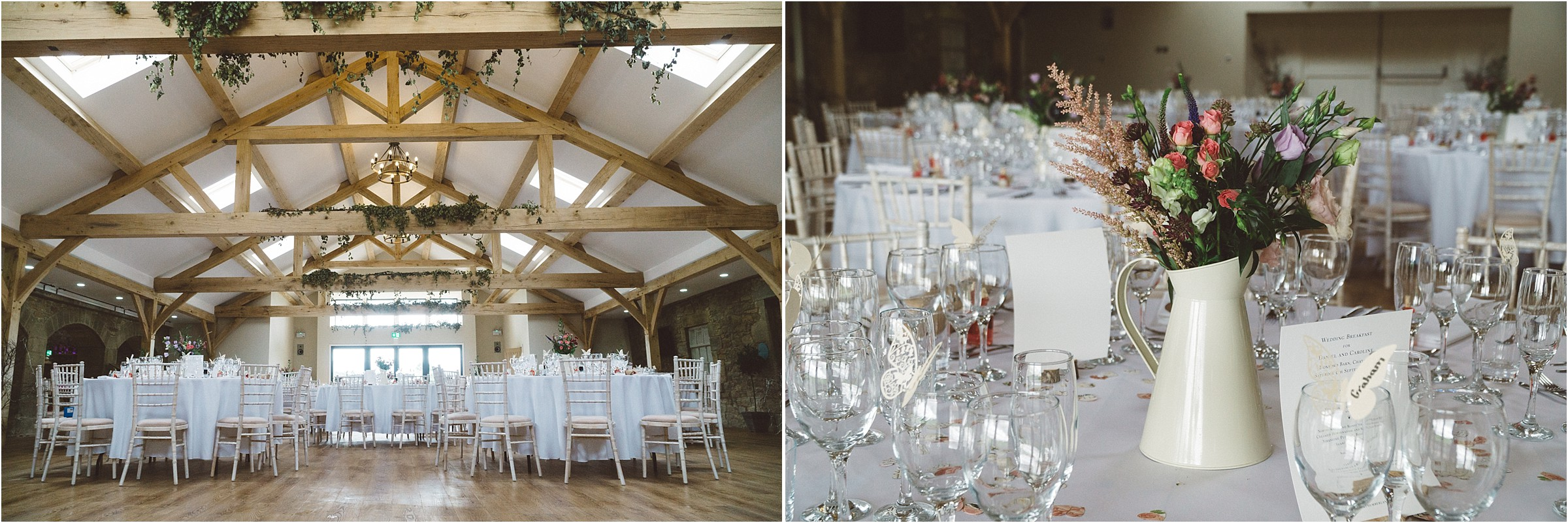 wedding reception at doxford barns northumberland